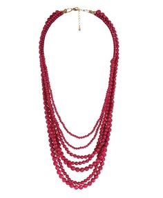 Colored Bead Necklace - $6.80