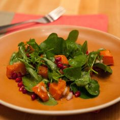 Butternut Squash and Watercress Salad with Champagne Vinaigrette By Marcela Valladolid