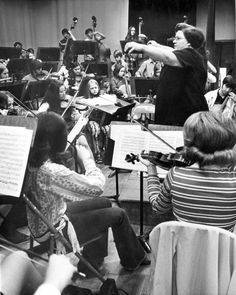 """Maxine Stone, orchestra director for Beatrice Public Schools, was in an April 27, 1971, article called a triple threat: musician, psychologist and salesman. And she used all three to grow the Beatrice stringed instrumental music program from 20 students when she first started to 160. At the fifth annual """"Orchestra Showcase — '71,"""" held at Omaha's City Auditorium, she was going to present three orchestras. THE WORLD-HERALD"""