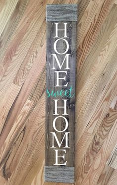 Home Sweet Home farmhouse sign. I would love to have this for my front porch. Farmhouse Home Sweet Home Wood Sign-Rustic Wood Sign-Farmhouse Decor-Rustic Decor-Rustic Signs-Home Decor-Front Porch Sign-Home Sweet Home #ad