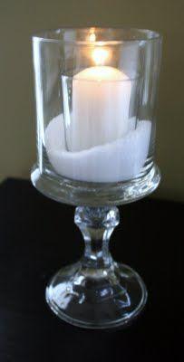 candle, epsom salt looks like snow Yes. For the Christmas Tea @ church