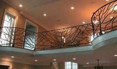 Custom Metal Handrail Designs for Staircases & Balconies Indoor Railing, Loft Railing, Staircase Railings, Balcony Railing, Railing Design, Banisters, Staircase Design, Railing Ideas, Metal Handrails