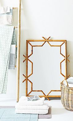 Serena and Lily, mirror, cool design, home interior, home decor, idea for DIY too, bamboo, mirror mirror on the wall who's the best designer of them all?