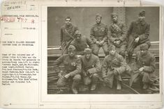 a group of people posing for a photo: Nine soldiers of the Infantry Regiment, known as the Harlem Hellfighters, were photographed upon their return from World War I. Women In History, World History, Black History, British History, Ancient History, American History, American Soldiers, American Civil War, Native American