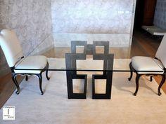 Descarga el catálogo y solicita al fabricante Sendai | mesa cuadrada By gonzalo de salas, mesa de comedor cuadrada de hierro y vidrio, Colección sendai