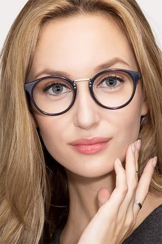 6f54e6208d90 Get Lucky Navy Acetate Eyeglasses from EyeBuyDirect. Come and discover  these quality glasses at an