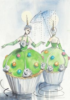 Priscilla Queen of the Desert:Tim Chappel & Lizzy Gardiner Cupcake Costume(Priscilla's Broadway Musical)
