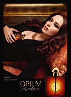 Emily Blunt for Yves Saint Laurent Opium Fragrance Campaign by Patrick Demarchelier