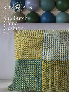 Rowan game day cushion free knitting pattern