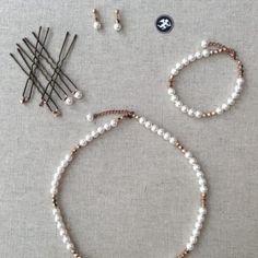 Bracelet «Camélia» Palladium, Wedding Jewelry, Bobby Pins, Creations, Hair Accessories, Beauty, Suit Handkerchief, Calf Leather, Casket