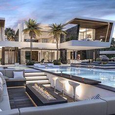 Millionaire Homes, Modern Villa Design, Contemporary Design, Dream Mansion, Modern Mansion, Luxury Homes Dream Houses, Dream House Exterior, Dream Home Design, Beautiful Homes