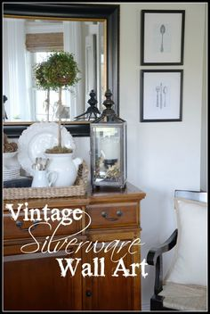 Vintage Silverware Wall Art DIY Home Decor Project