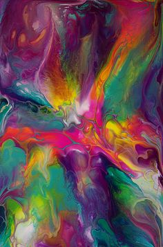 Inspiration, a fluid Acrylic pouring by Maria Brookes