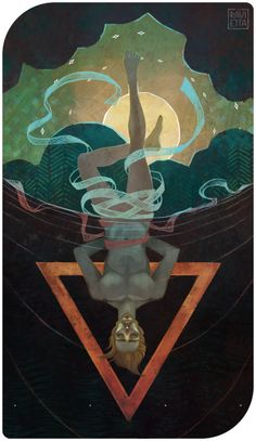 chiefgrumpkin: The Hanged Man - Ravietta - The Occult Artists Collective Hanged Man Tarot, The Hanged Man, Fantasy Paintings, Fantasy Art, Indian Paintings, Art Paintings, Wicca, Male Witch, Man Illustration