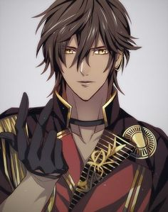 This is from Touken Ranbu? Hot Anime Boy, Cute Anime Guys, Chica Anime Manga, Manga Boy, Touken Ranbu, Anime Cosplay, Fille Anime Cool, Anime Hairstyles Male, Handsome Anime