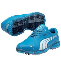 Puma // PUMA GOLF SHOES SUPER CELL FUSION ICE LE VIVID BLUE/WHITE - SPRING 2012 Just purchased 4 my hubby <3