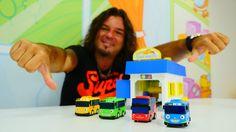 Megaboy - Asrın ve kamyonlarla inşaat oyunu. Çocuk oyunları. Çocuk video...