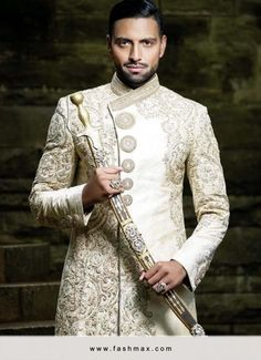 Latest New Groom Men Sherwani Designs Collection 2014 (2)