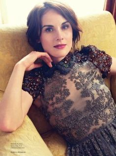The ladies of Downton Abbey for Harpers Bazaar UK August 2014 - Michelle Dockery2.jpg