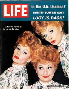 life:  On this day in LIFE magazine — January 5, 1962: Lucy is back!  ルーシーショー、好きだったなぁ