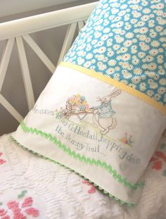 Hand Embroidery Pattern - Here Comes Peter Cottontail - Crabapple Hill Studio