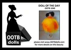 """07.10.14 - Today, we are previewing doll OOTB 1040, she has an interesting back story! Unbeknown to us during production, when we created this doll, she was loosely inspired by a vintage design from Yves Saint Laurent from 1969-1970. Such a coincidence! We only learned about this dress afterward during our research from reading the book """"Haute Couture"""" by Harold Koda afterward, and thus, we're hereby considering this doll as a homage to YSL! Enjoy!  www.OOTBdolls.com"""