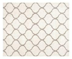 Tappeto in polipropilene Zoey Shag avorio/grigio, 243x304 cm