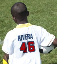 Two color plastisol transfer numbers will have your soccer uniform ready for the action in seconds  TransferExpress.com