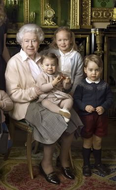 Princess Charlotte is a baby picture of the queen