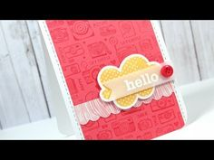 """MACM - Hello NOTE: LOVE LOVE LOVE the camera background stamp Hero Arts: """"Smile"""" cling background stamp"""