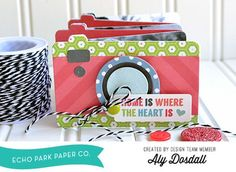 mini album - using the Camera Bigz die by Echo Park for Sizzix