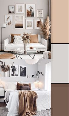 Brown Room Decor, Living Room Decor Colors, Living Room Color Schemes, Bedroom Colors, Home Color Schemes, Interior Design Color Schemes, Room Design Bedroom, Room Ideas Bedroom, Home Decor Bedroom