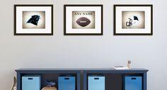 Personalized set of 3 Carolina Panthers photo by IprayStudio