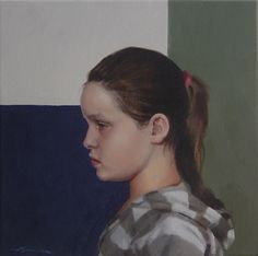 Georgia in Profile - oil on canvas - Neil Nelson