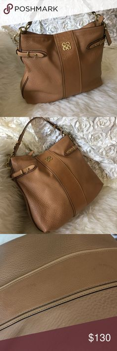 COACHFIRM PRICE Pre❤️'d COACH bag. It's made from thick good quality leather. Inside of the bag is fairly clean, it's very light pink so it shows it's been used. 3rd pic shows darker spots which are barely noticeable unless you look at the bag really close. I'm sure it can be cleaned.  It has one zipper pocket and two other small pockets inside. Beautiful  13x13 ..just perfect Coach Bags