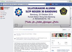 Silaturahim Alumni SLTP Negeri 30 Bandung - Forum Silaturahim Alumni SLTP Negeri 30 Bandung