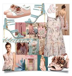 """""""nude trend"""" by tuaptstore on Polyvore featuring GALA, Luis Onofre, floral, Pink, Flowers, nude and roses"""