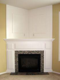 diy corner fireplace makeover