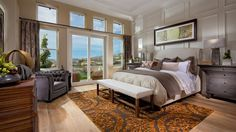 Master bedroom with tons of natural light, at Laurelton by CalAtlantic