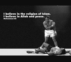 Muhammad Ali. The Greatest. Amazing Muslim role model & icon. Rest in peace, Champ.