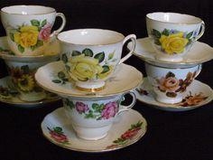 6 Matching Teacup Sets Tea Party Wedding Bulk by TheTeacupAttic