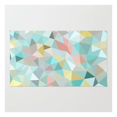 Society6 Pastel Tris Rug ($28) ❤ liked on Polyvore featuring home, rugs, machine washable area rugs, zig zag rugs, pastel area rugs, woven rug and abstract rug