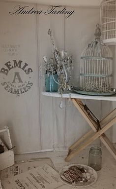 Romantic shabby on the ironing board (from Vintage Bella Studio)