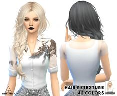 Maysims 43 hair retexture at May Sims via Sims 4 Updates