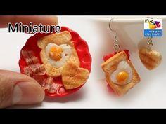 미니어쳐 토스트 만들기 polymerclay food toast miniature doll house 음식 요리 - YouTube