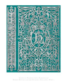 Magical Hieroglyphs and Runes book cover from Harry Potter graphic designers MinaLima