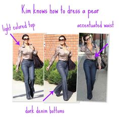 How To Dress A Pear Shaped Body tips straight from your favorite wardrobe stylis. Pear Shaped Dresses, Pear Shaped Outfits, Petite Fashion, Plus Size Fashion, Curvy Fashion, Jeans Fashion, Pear Shape Fashion, Pear Shaped Women, Pear Body