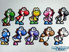 Yoshi Super Mario World 2 Perler Bead by Geek Mythology Crafts, $8.00