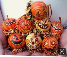 by Tammy Stum of Light and Shadow Studio - PintoPin Retro Halloween, Halloween Gourds, Halloween Queen, Halloween Doll, Halloween Ornaments, Halloween Jack, Holidays Halloween, Halloween Crafts, Halloween Decorations