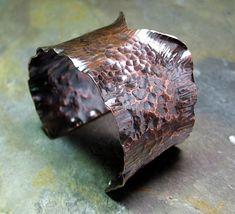 Copper Cuff, Copper Bracelet, Hammered Copper, Copper Jewelry, Jewelry Art, Cuff Bracelets, Metal Bracelets, Bangles, Rustic Jewelry